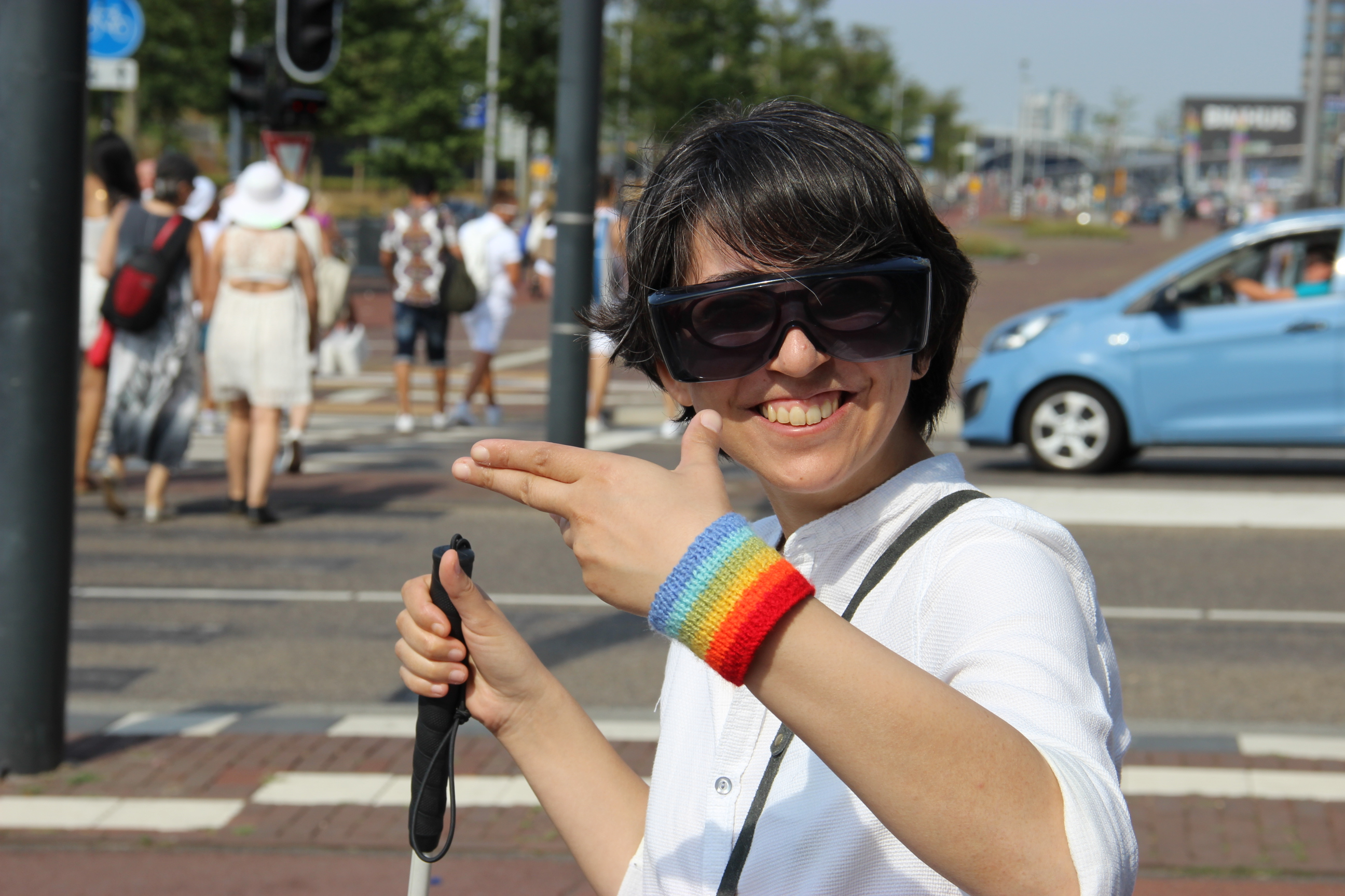 Elham Malekpoor on the way to Iran Boat in Amsterdam Pride 2018