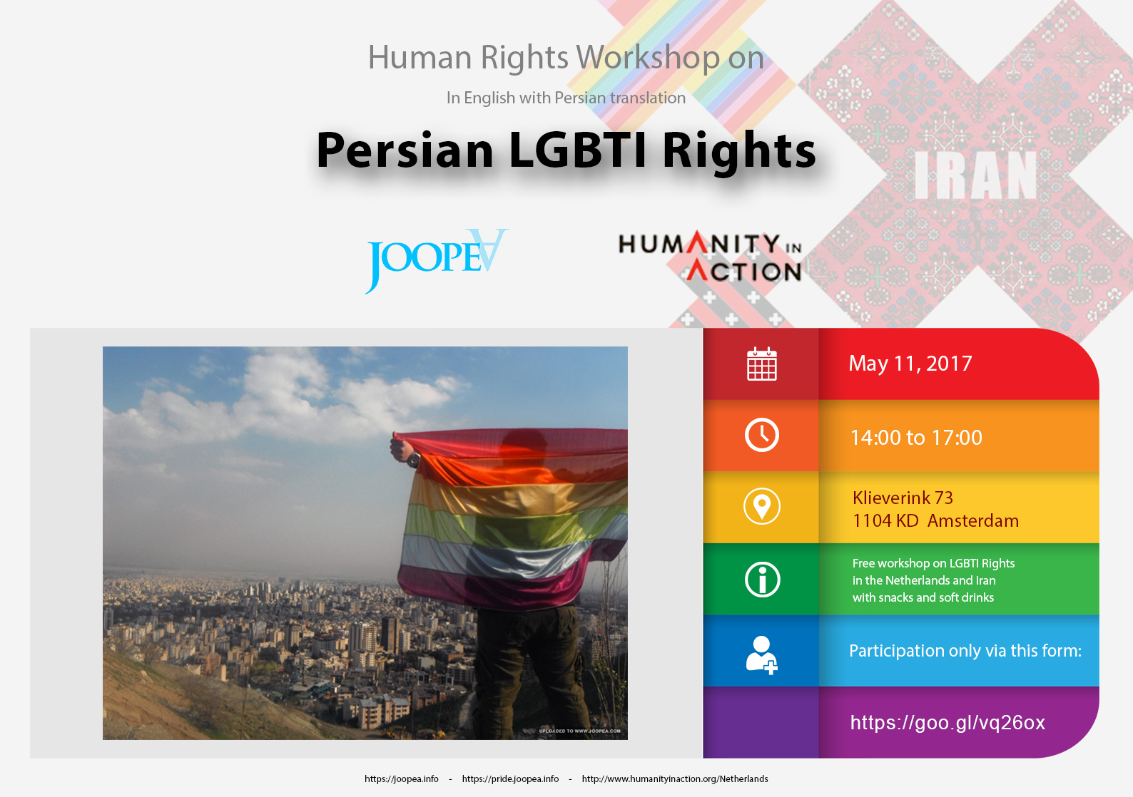 Persian LGBTI Rights workshop JoopeA & Humanity in Action