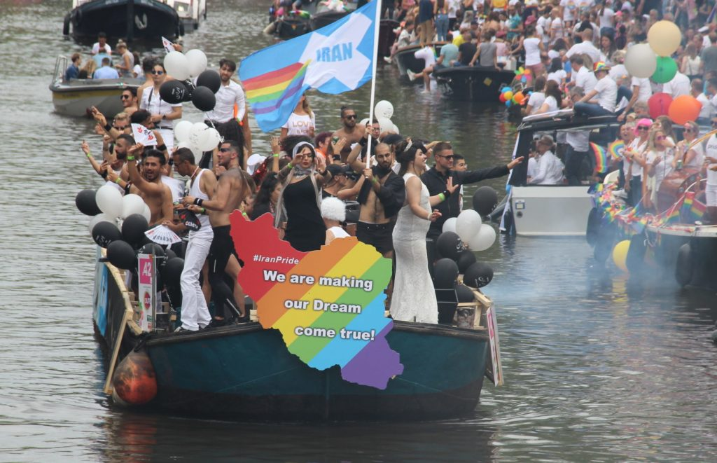 Iran Boat in Amsterdam Canal Pride 2019